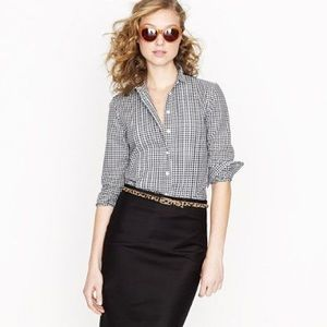 J Crew Stretch Perfect Shirt in Medium Gingham